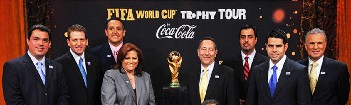El trofeo del Mundial de la FIFA llegó a Univisión