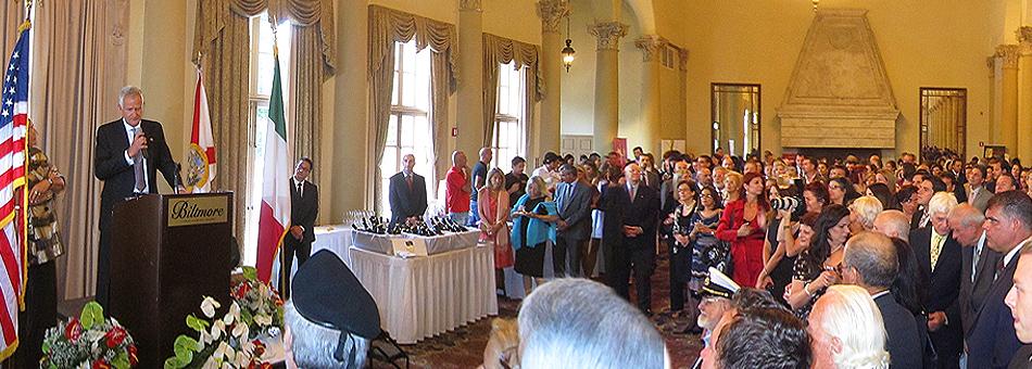Celebración de los 66 años de la República Italiana en la ciudad de Coral Gables