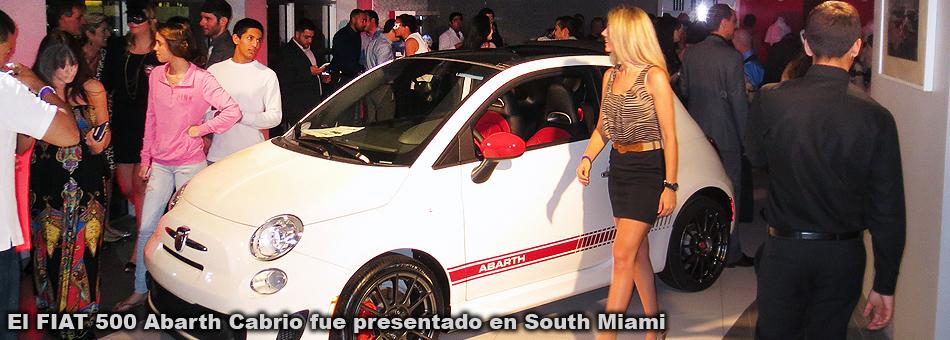 El FIAT 500 Abarth Cabrio fue presentado en South Miami