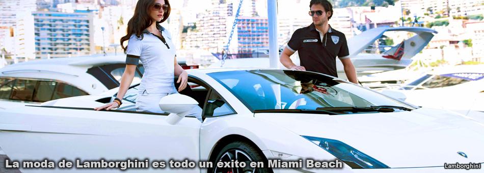 La moda de Lamborghini es todo un éxito en Miami Beach