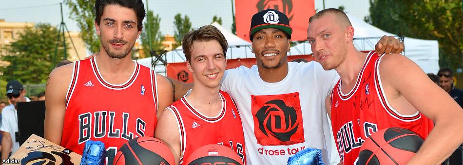 Derrick Rose viaja con Adidas mientras prepara su regreso a la NBA