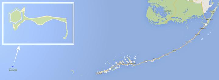 Dry Tortugas mapa