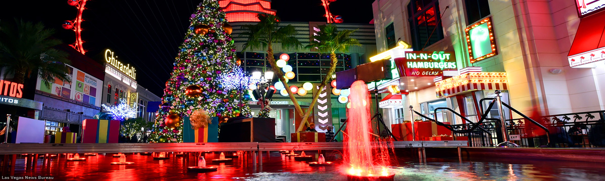 La Navidad llegó a la ciudad de Las Vegas