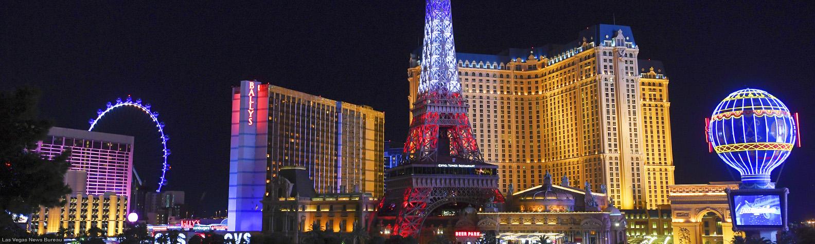 El impactante show de luces de la Torre Eiffel en Las Vegas