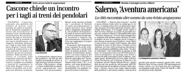 Aventura Americana en la prensa italiana