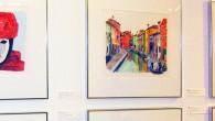El artista Daniele Ballerini presentó sus acuarelas de Venecia y Nueva York
