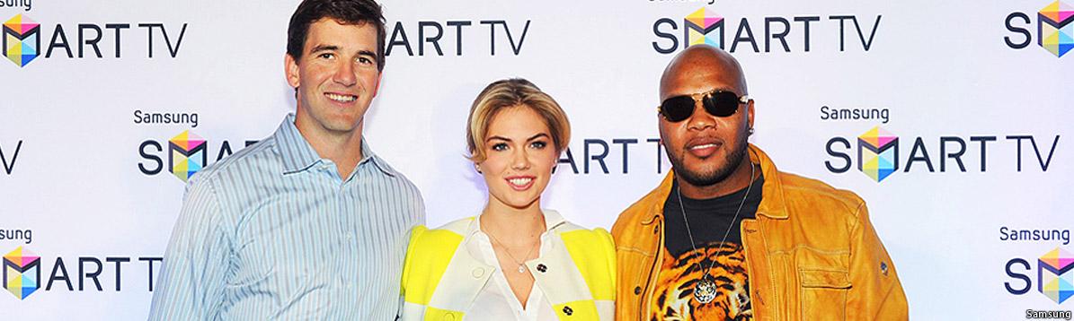 Peyton Manning, Kate Upton y Flo Rida unidos por Samsung en Nueva York