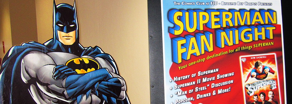 Comics Club de FIU celebró su primer evento: Superman Fan Night