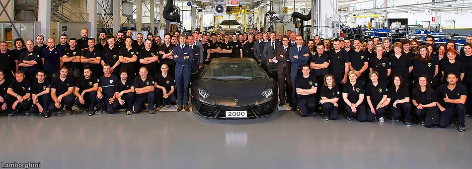 Lamborghini celebra los 2000 automóviles de su línea Aventador