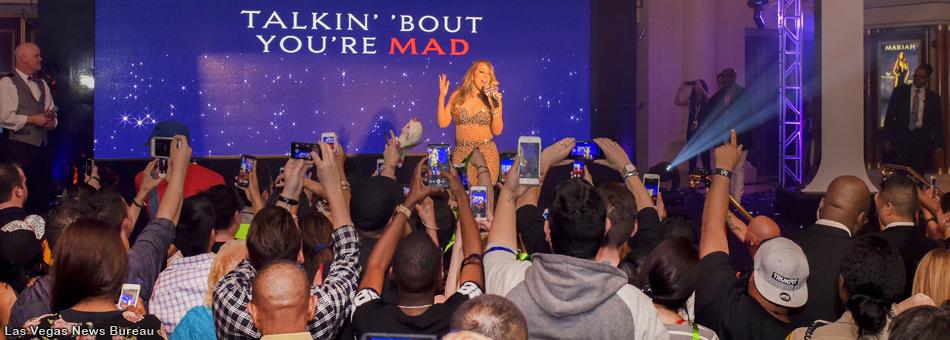 La entrada triunfal de Mariah Carey en el Caesars Palace de Las Vegas