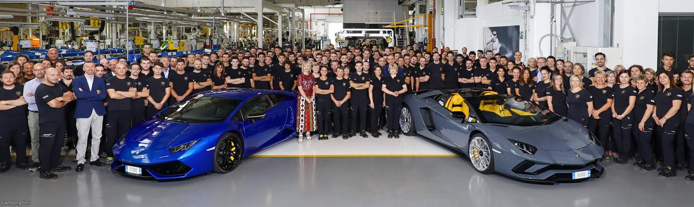 Los Lamborghini Aventador y Huracán hacen historia
