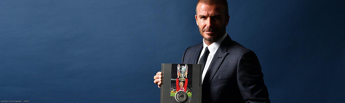 David Beckham recibe distinción especial de la UEFA
